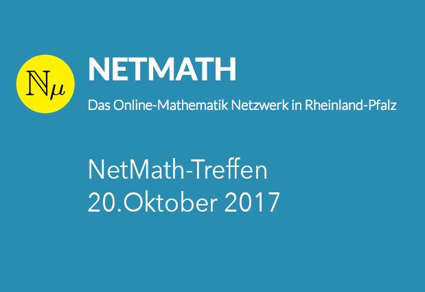 einladung - netmath-treffen am 20.10.17 - vcrp, Einladung