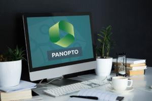 PC mit Panopto Logo